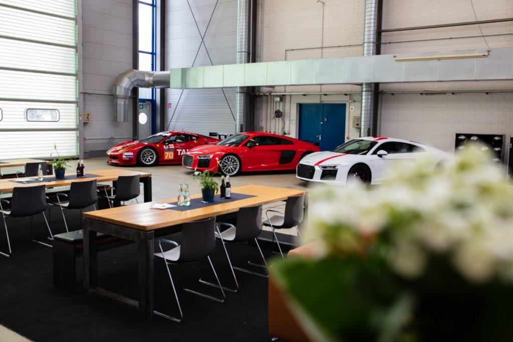 Audi R8 Event Location mit Einrichtung Mendig